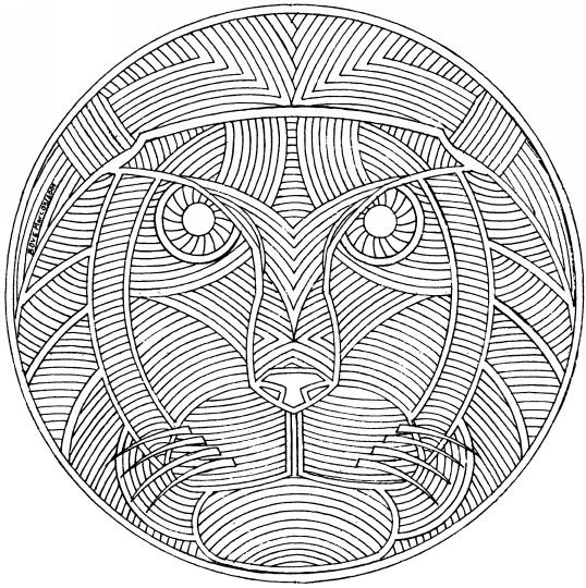 Mandalas animaux - Mandalas de tigres ...