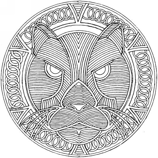 Printablecolouringpagescouk Scat Detailed Mandala