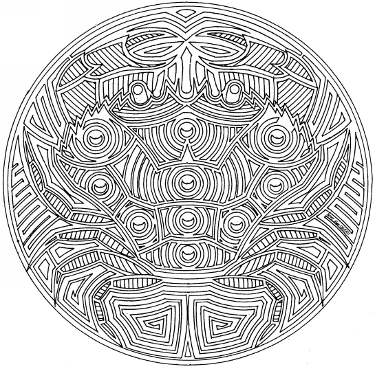 Animal Pictures To Color In. Animal Mandalas to color -