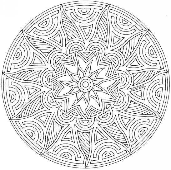 Mandalas pour cacillia for Geometric mandala coloring pages